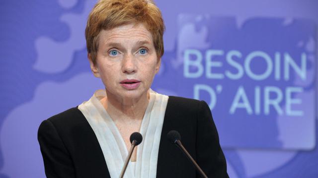La présidente de l'organisation patronale Medef tient sa conférence de presse mensuelle, le 18 septembre 2012, à Paris [Eric Piermont / AFP/Archives]