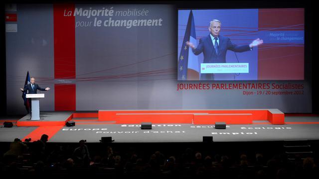 Le Premier ministre Jean-Marc Ayrault à Dijon, lors des journées parlementaires du PS, le 20 septembre 2012 [Philippe Desmazes / AFP]