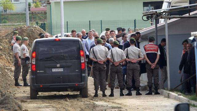 Des soldats turcs, détenus, arrivent à la cour de Silivri, le 21 septembre 2012 [- / AFP]