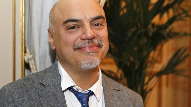 L'écrivain et journaliste américain Héctor Tobar, le 21 septembre 2012 à Paris [Patrick Kovarik / AFP]