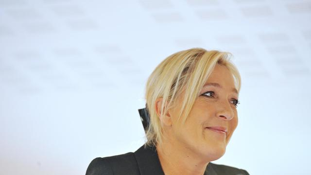 La présidente du Front national Marine Le Pen donne une conférence de presse durant l'université d'été du FN à La Baule, le 22 septembre 2012 [Alain Jocard / AFP]