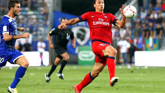 L'attaquant du PSG Zlatan Ibrahimovic, le 22 septembre 2012 à Bastia. [Pascal Pochard Casabianca / AFP]