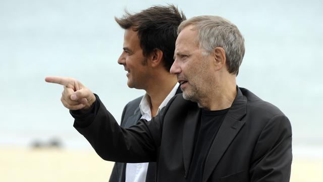 Le réalisateur François Ozon et l'acteur Fabrice Luchini, le 23 septembre 2012 au festival de cinéma de Saint-Sébastien [Rafa Rivas / AFP]