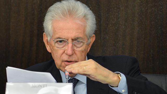 Le Premier ministre italien Mario Monti, le 24 septembre 2012 à Rome [Andreas Solaro / AFP]