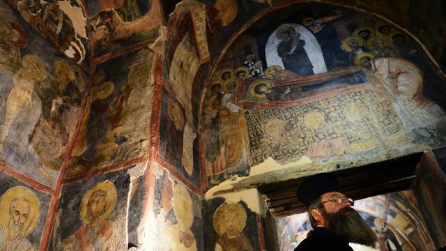 L'église de Boïana à Sofia, classée au patrimoine mondial de l'humanité, le 24 septembre 2012 [Dimitar Dilkoff / AFP]