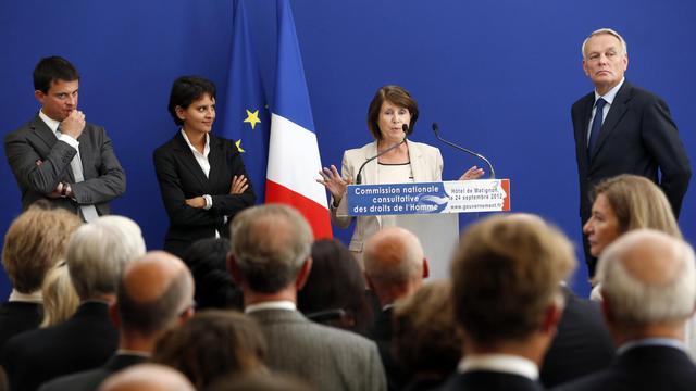 Christine Lazerges, nouvelle présidente de la CNCDH, le 24 septembre 2012 [Pierre Verdy / AFP]