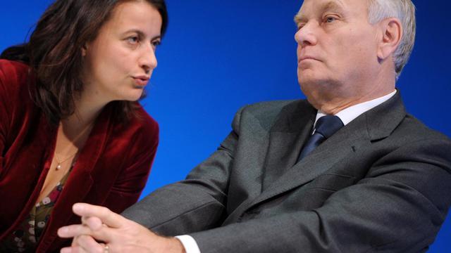 Cécile Duflot et Jean-Marc Ayrault le 25 septembre 2012 à Rennes [Jean-Francois Monier / AFP]