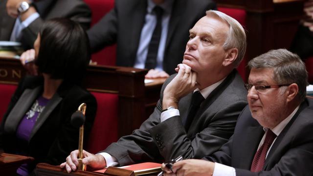 Le Premier ministre Jean-Marc Ayrault, le 25 septembre 2012 à l'Assemblée nationale à Paris [Kenzo Tribouillard / AFP]