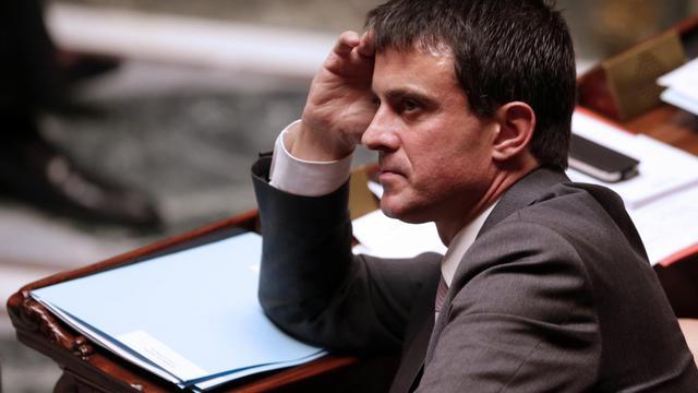 Manuel Valls à l'Assemblée, à Paris, le 25 septembre 2012 [Kenzo Tribouillard / AFP/Archives]