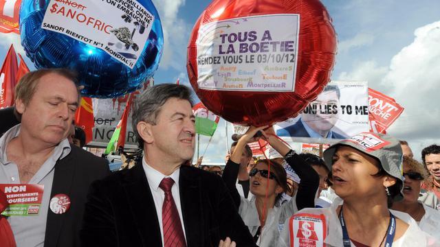 Le chef de file du Front de Gauche Jean-Luc M2lenchon, le 27 septembre 2012 à Toulouse [Pascal Pavani / AFP]