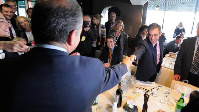 François Fillon et Jean-François Copé, le 27 septembre 2012 à Marcq-en-Baroeul [Denis Charlet / AFP]