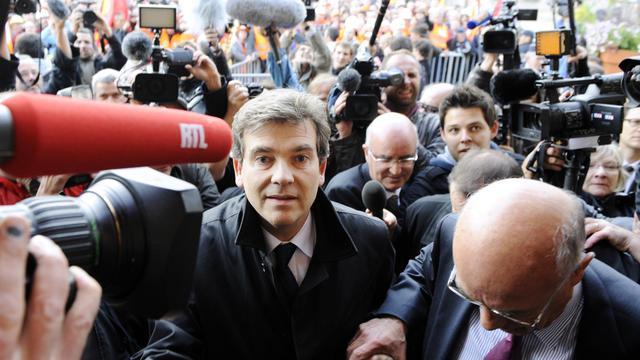 Le ministre du Redressement productif à Florange, le 27 septembre 2012 [Jean-Christophe Verhaegen / AFP]