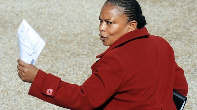 La ministre de la Justice Christiane Taubira, le 28 septembre 2012 à Paris [Bertrand Guay / AFP/Archives]