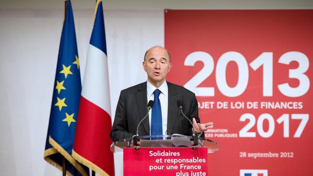 Le ministre de l'Economie et des Finances, Pierre Moscovici, à Paris le 28 septembre 2012 [Bertrand Langlois / AFP]