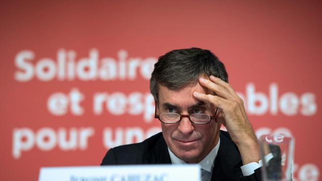 Le ministre du Budget Jérôme Cahuzac lors de la présentation du budget 2013 à Bercy, le 28 septembre 2012 [Bertrand Langlois / AFP]
