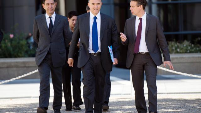 Le ministre de l'Economie et des Finances, Pierre Moscovici, le 28 septembre 2012 [Bertrand Langlois / AFP]