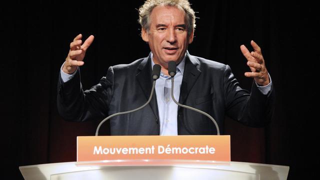 Le président du Modem François Bayrou, le 28 septembre à Guidel [Fred Tanneau / AFP]