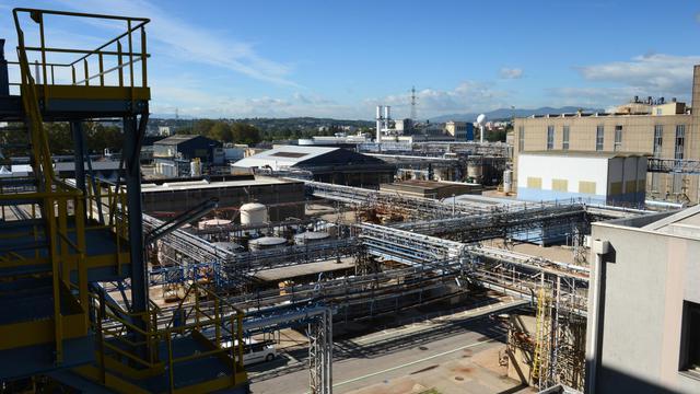 L'usine Rhodia, à Saint-Frons, près de Lyon, le 27 septembre 2012 [Philippe Desmazes / AFP]