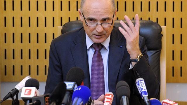 Le procureur de Montpellier, Brice Robin, lors de sa conférence de presse, le 1er octobre 2012 [Pascal Guyot / AFP]