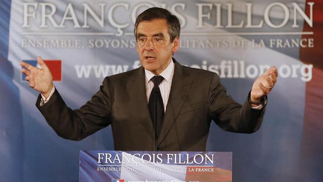 François Fillon à un meeting le 1er octobre 2012 à Nice [Valery Hache / AFP/Archives]