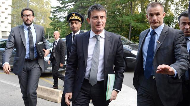 Manuel Valls le 2 octobre 2012 à   Grenoble [Philippe Desmazes / AFP]
