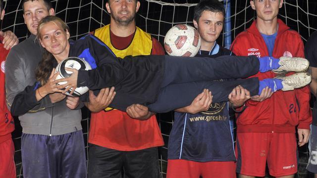 Tihana Nemcic, entraîneur de Viktorija Vojakovac, le 28 septembre 2012. [Hrvoje Polan / AFP]