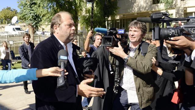 ric Dupond-Moretti (L), avocat de Nikola et Luka Karabatic le 2 octobre 2012 à Montpellier [Gerard Julien / AFP]