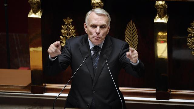 Le Premier ministre Jean-Marc Ayrault à la tribune de l'Assemblée nationale, le 2 octobre 2012 [Lionel Bonaventure / AFP]