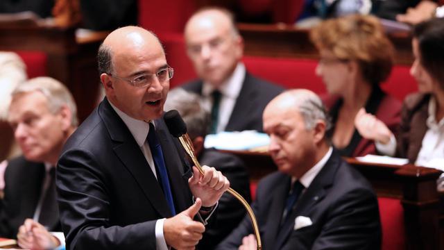 Le ministre de l'Economie Pierre Moscovici, le 3 octobre 2012 à l'Assemblée nationale [Thomas Samson / AFP]