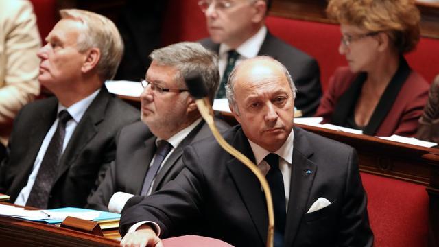Le ministre des Affaires étrangères Laurent Fabius le 3 octobre 2012 à l'Assemblée nationale à Paris [Thomas Samson / AFP]