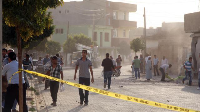 Zone où se sont abattus des obus syriens, le 3 octobre 2012 à Akcakale en Turquie [ / AFP]