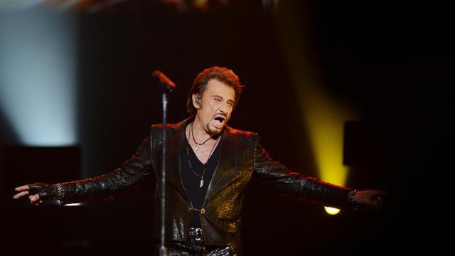 Johnny Hallyday en concert au Kremlin, à Moscou, le 27 octobre 2012 [Natalia Kolesnikova / AFP]
