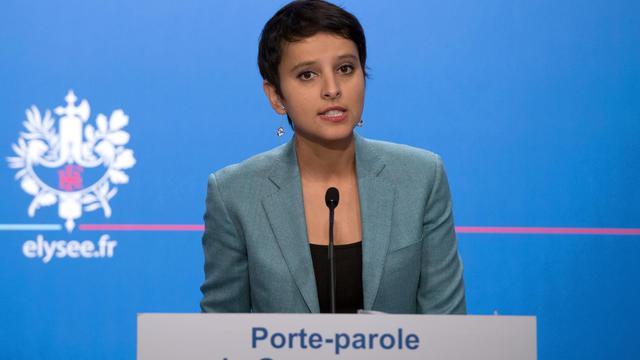 La porte-parole du gouvernement, Najat Vallaud-Belkacem, le 7 novembre 2012 à Paris [Bertrand Langlois / AFP/Archives]
