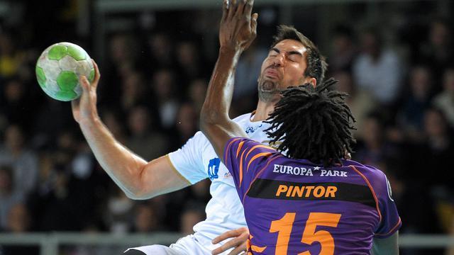 Nikola Karabatic lors d'un match de championnat avec Montpellier face à Sélestat, le 11 novembre 2012 à Strasbourg. [Frederick Florin / AFP]