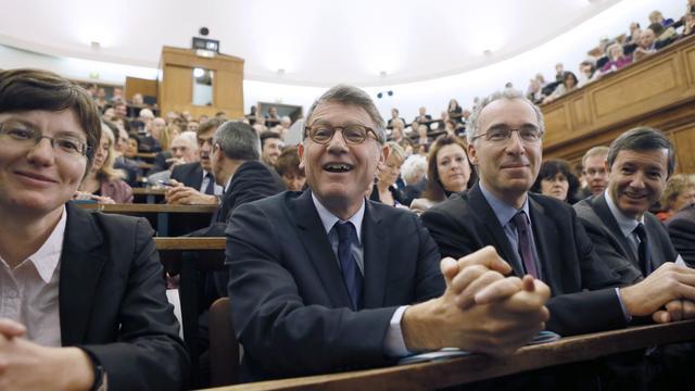 Vincent Peillon à l'Ecole nationale supérieure de chimie, le 4 décembre 2012 à Paris [Patrick Kovarik / AFP]