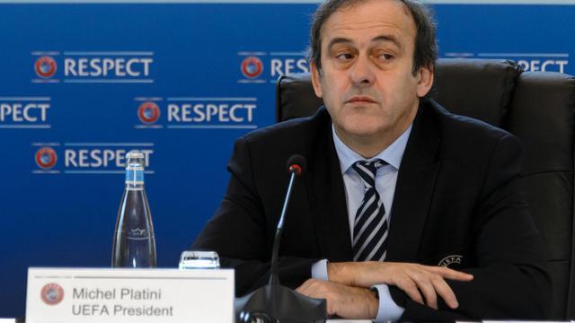 Le président de l'UEFA Michel Platini le 6 décembre 2012 à Lausanne [Fabrice Coffrini / AFP]