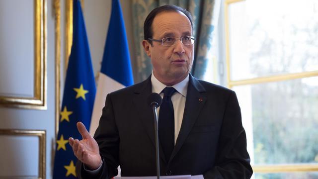 Le président François Hollande à l'Elysée le 9 décembre 2012 [Bertrand Langlois / AFP/Pool]