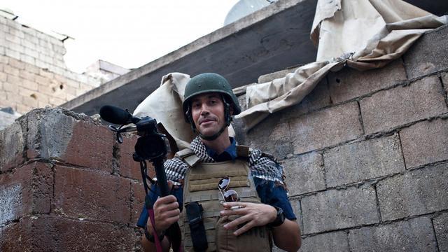 Le journaliste américain James Foley à Alep, en Syrie, le 5 novembre 2012 [Nicole Tung / AFP/Archives]