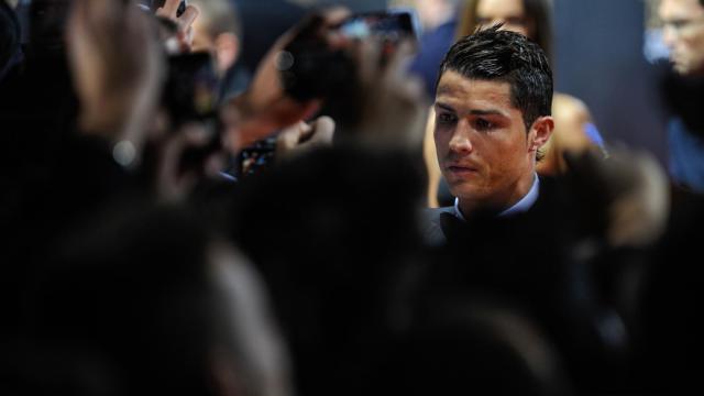 Le Madrilène Cristiano Ronaldo lors de la cérémonie du Ballon d'Or, le 7 janvier 2013 à Zurich [Sebastien Bozon / AFP]