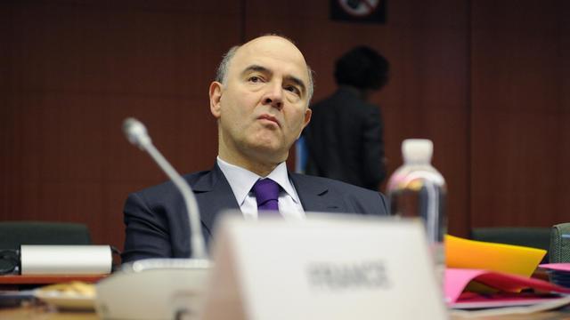Pierre Moscovici avant une réunion du conseil de l'eurogroupe à Bruxelles, le 11 février 2013 [John Thys / AFP/Archives]