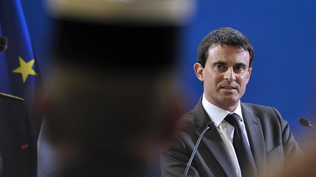 Le ministre de l'Intérieur Manuel Valls le 22 mars 2013 à Guéret [Thierry Zoccolan / AFP]