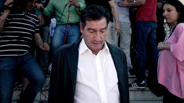 Le maire d'Athènes Giorgos Kaminis, le 2 mai 2013  dans la capitale grecque [Angelos Tzortzinis / AFP]