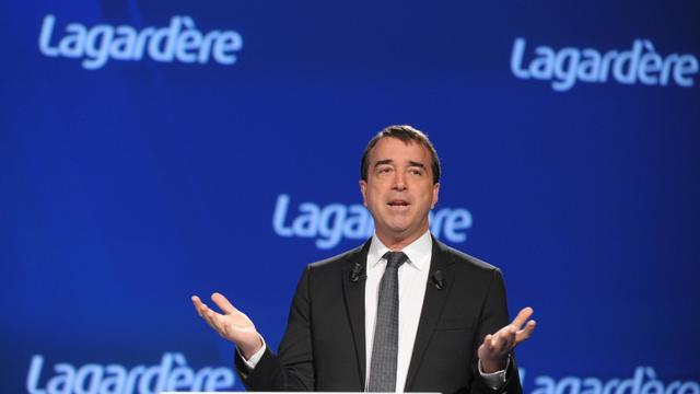 Arnaud Lagardère à Paris, le 3 mai 2013 [Eric Piermont / AFP]