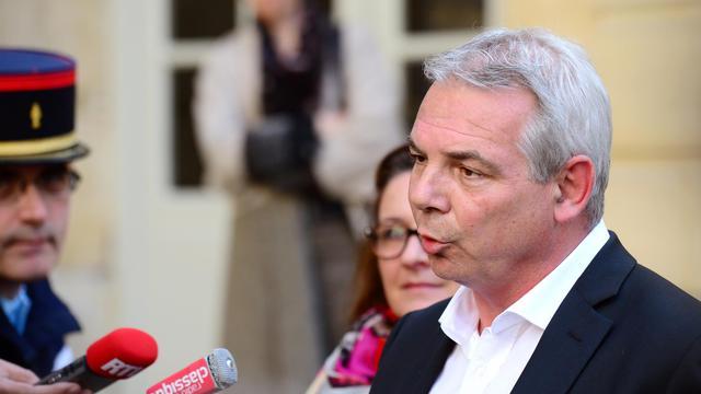 Le numéro un de la CGT, Thierry Lepaon, à la sortie de sa rencontre avec le Premier ministre, le 13 mai 2013 [Martin Bureau / AFP/Archives]