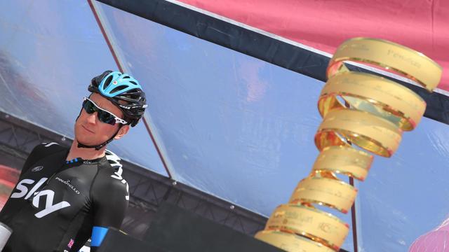 Le Britannique Bradley Wiggins avant le départ de la 10e étape du Tour d'Italie à Altopi à Cordenons, le 14 mai 2013. [Luk Benies / AFP/Archives]