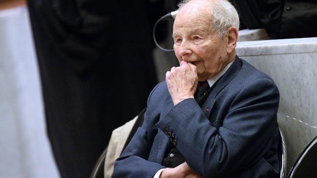 Jacques Servier au tribunal de Nanterre, le 21 mai 2013 [Lionel Bonaventure / AFP]
