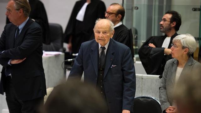 Jacques Servier, le 21 mai 2013 devant le tribunal correctionnel de Nanterre, le jour de l'ouverture de son procès [Lionel Bonaventure / AFP]