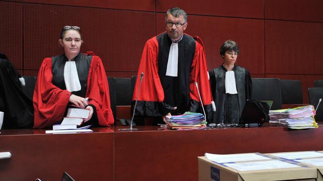 Le président de la cour d'assises de Loire-Atlantique Dominique Pannetier (C), le 22 mai 2013 à Nantes [Frank Perry / AFP]