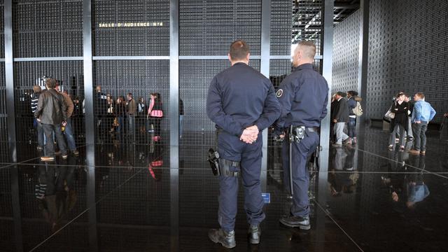 Des membres du GIPN lors du procès de Tony Meilhon, devant la cour d'assises de Nantes, le 22 mai 2013 [Frank Perry / AFP]