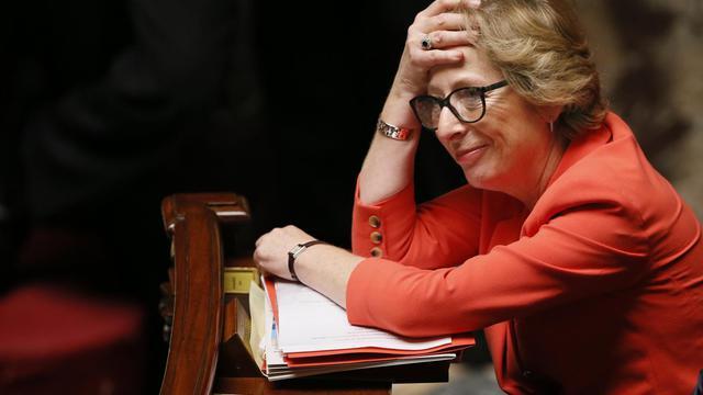 La ministre de l'Enseignement supérieur et de la recherche, Geneviève Fioraso, le 22 mai 2013 à l'Assemblée nationale à Paris [Patrick Kovarik / AFP/Archives]